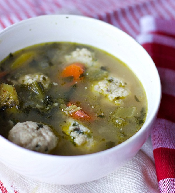 Italian-wedding-soup-with-ricotta-meatballs