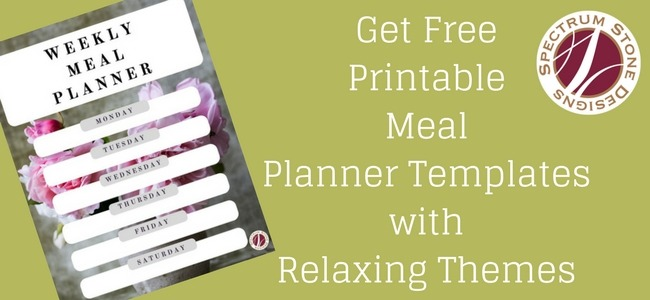 relaxing printable meal planner templates spectrum stone designs